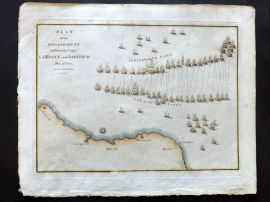 Cary 1801 HC Map. Plan of the Engagement between the Capes La Hogue and Barfleur